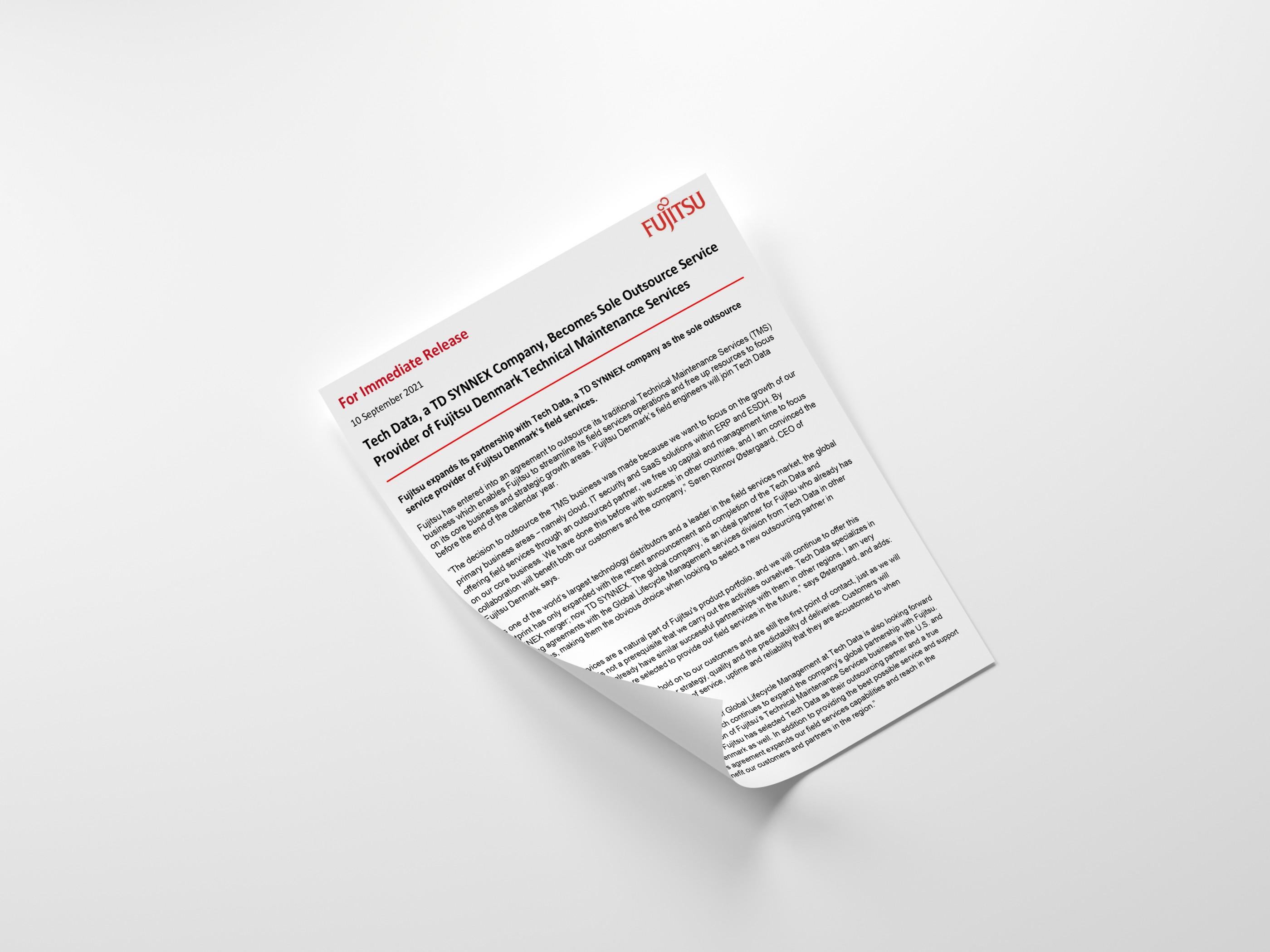 Fujitsu-Field Services-Press Release