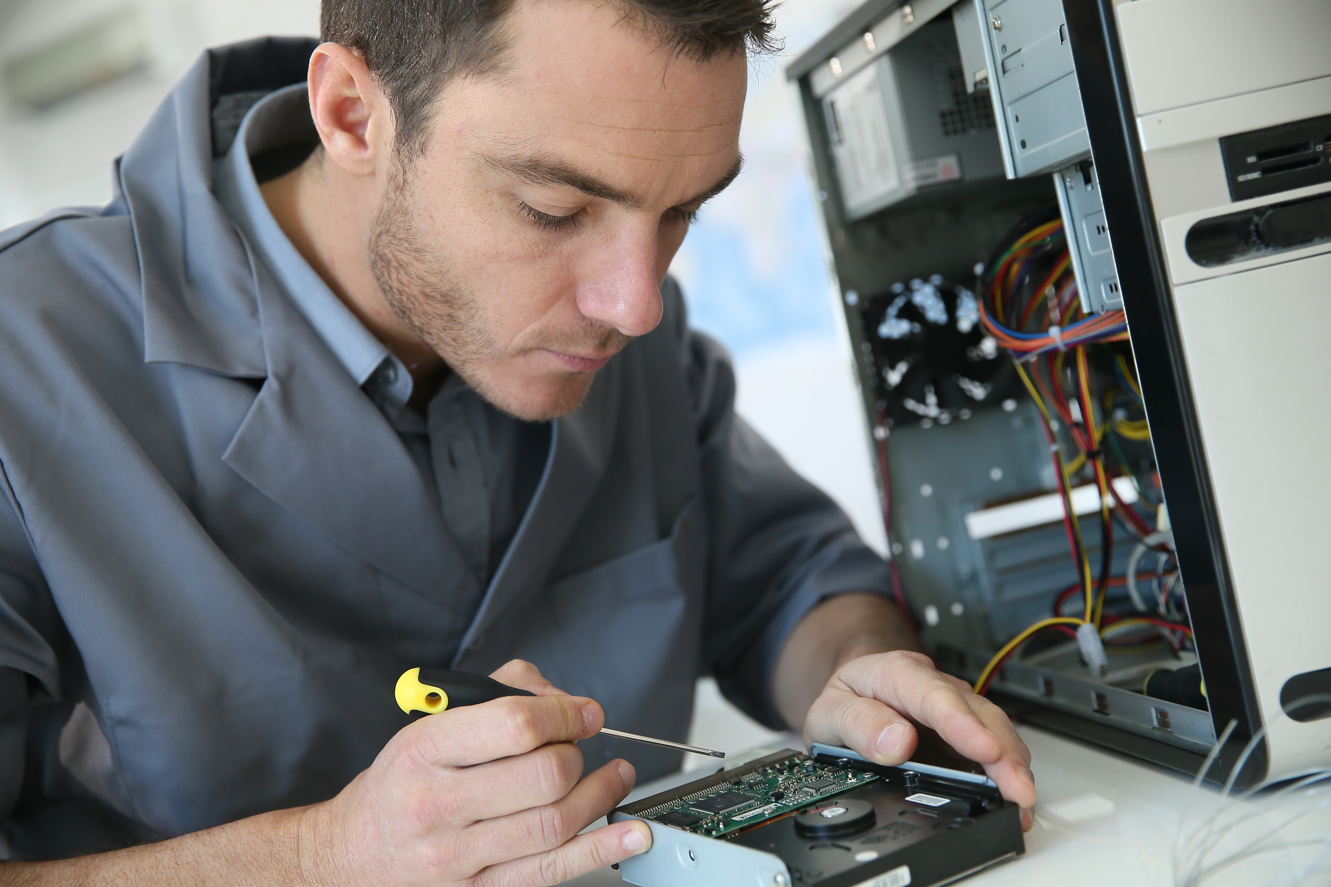 Customizing a hard drive to client's specifications.